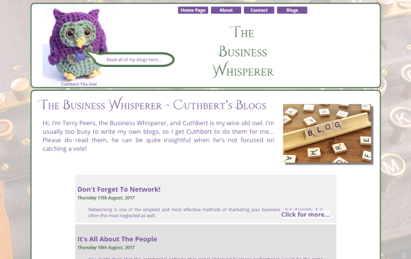 Image of the Business Whisperer website