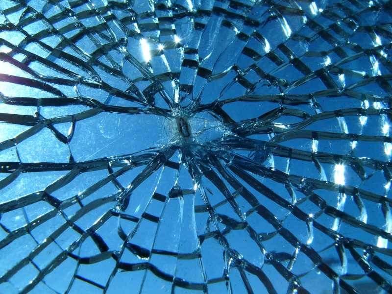 Image of a broken window