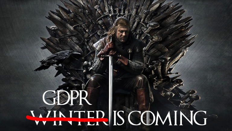 Image of a Sean Bean in Game of Thrones, with 'GDPR Is Coming' caption