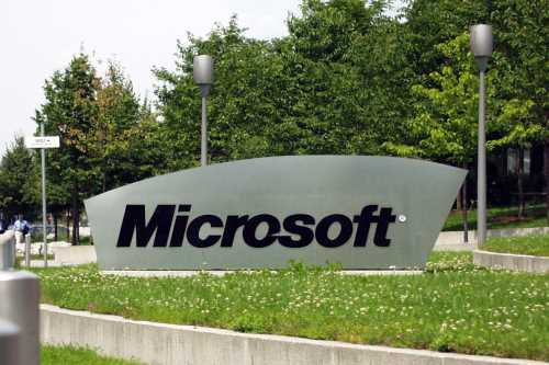 Image of a Microsoft sign