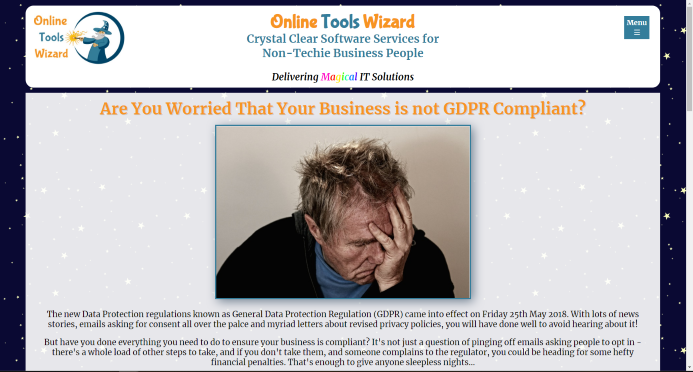 Image of the Online Tools Wizard website
