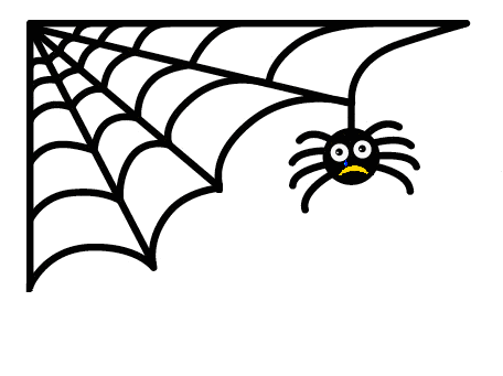 Image of a sad spider (based on the Simple Spider logo)
